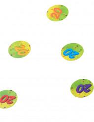 Confezione di coriandoli colorati con numero 20