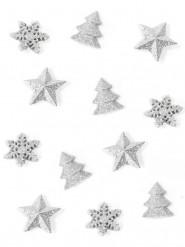 12 Decorazioni di Natale da tavola color argento