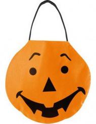 Borsetta con zucca arancione di Halloween