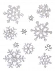 Decorazione natalizia finestre fiocchi di neve
