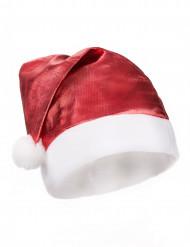 Cappello per Natale rosso metallizzato adulto