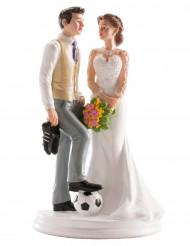 Statuine coppia matrimonio scena umoristica