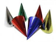 Sacchetto contenente sei cappellini a punta colorati