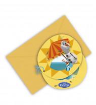 Lotto da 6 cartoncini d'invito Olaf™