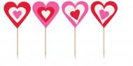8 bastoncini con cuore San Valentino