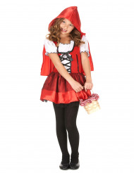 Costume corto cappuccetto rosso per bambina