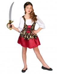 Costume corto da pirata bambina