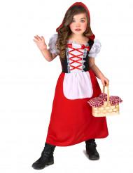 Costume lungo cappuccetto rosso bimba