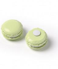 6 macarons in resina color verde anice autoadesivi