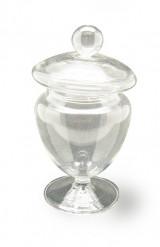 Contenitore in vetro per caramelle su piedistallo alto 12 cm