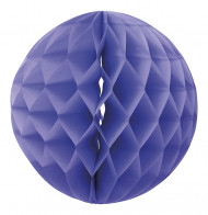 Sfera di carta decorativa color lavanda con fossette