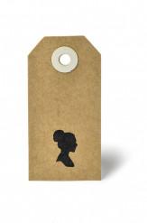 20 etichette in carta kraft con silhouette