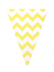 5 gagliardetti di carta con motivo zig zag giallo