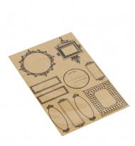 40 etichette adesive kraft in stile vintage