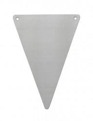 5 gagliardetti triangolari DIY grigi cartone
