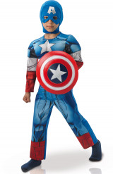 Costume da Capitan America™ per bimbo versione lusso