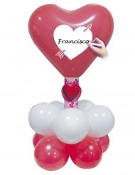 Set di 12 palloncini rossi e bianchi per San Valentino