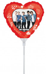Palloncino cuore di alluminio One Direction™