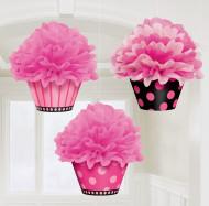 3 Sospensioni Cupcake