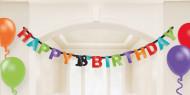 Ghirlanda 18 anni colorata Happy Birthday