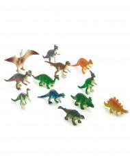 12 statuine di dinosauri in plastica