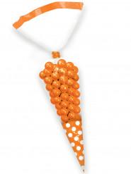 10 sacchetti a cono per dolci arancio