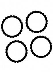 20 adesivi di 5 cm in bianco e nero