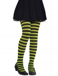 Calze collants verdi e nere per bambini