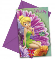 6 cartoncini per invito Disney Fairies™