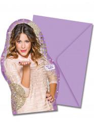 6 Biglietti invito con busta Violetta™