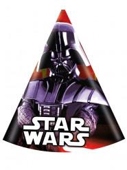 6 cappellini per festa compleanno di Dart Fener Star Wars™