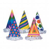 Cappello colorato in cartone per festa