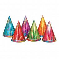 6 Cappelli della festa colorati in cartone