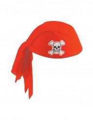 1 cappello a bandana da pirata rossa