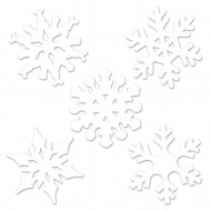 Lotto 10 mini decorazioni fiocco di neve Natale