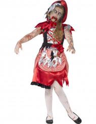 Costume bambina Cappuccetto Rosso Zombie