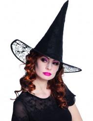 Cappello nero a punta da strega per adulto
