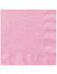 20 tovaglioli di carta rosa chiaro di 33 x 33 cm