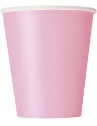 14 bicchieri in cartone rosa cipria