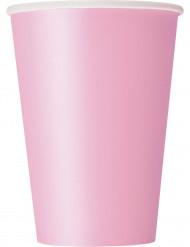 10 bicchieri di carta rosa chiaro 284 ml