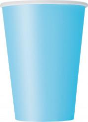 10 bicchieri di carta color blu pastello da 355 ml