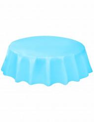 Tovaglia di plastica rotonda Blu pastello 214 cm