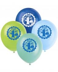8 Palloncini Giungla 1 anno Bambino
