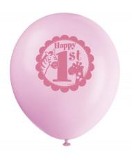 8 Palloncini Stampa Jungle 1 anno Bimba