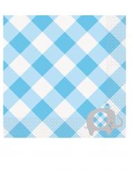 16 Tovaglioli di carta Elefante Blu 33 x 33 cm