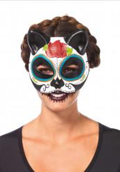 Maschera da gatto colorata Dia de los muertos