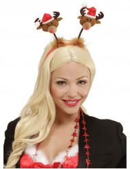 Cerchietto con renne per Natale