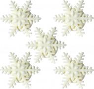 5 mini fiocchi di neve di zucchero per Natale