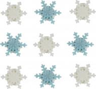 9 fiocchi di neve di zucchero Natale piccoli