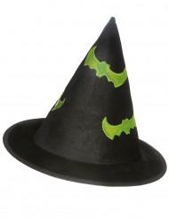 Cappello da strega con pipistrelli fosforescenti